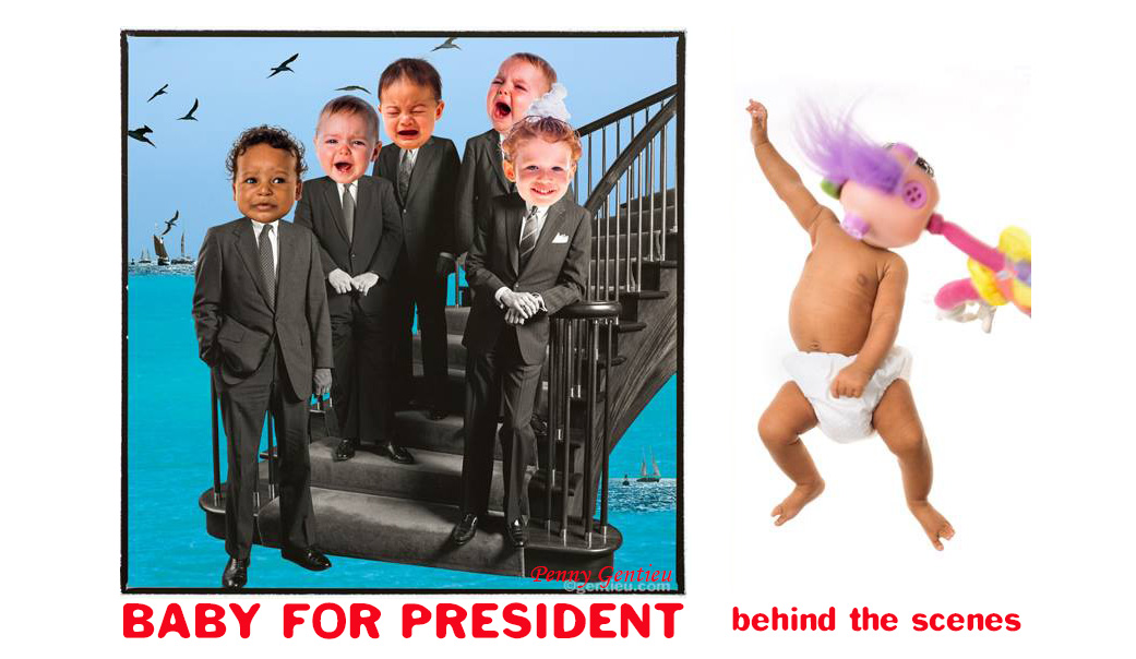 Penny Gentieu's Baby For President, the paperback, behind the scenes